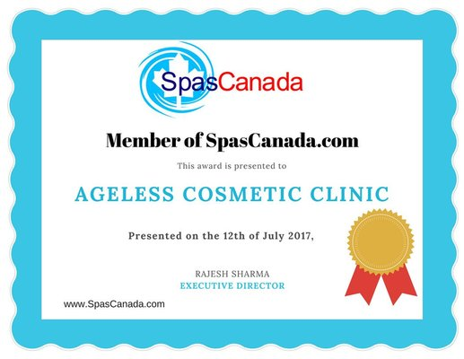 Ageless Cosmetic Clinic Joins SpasCanada.com
